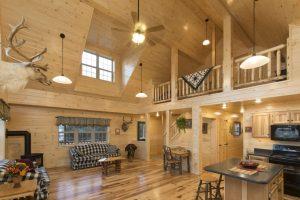 custom log cabin interior