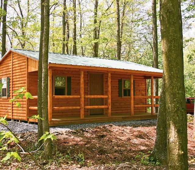 Lincoln style log cabin manufactured in pa cozy cabins for Cozy cabins pa