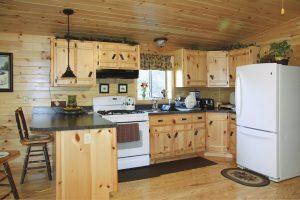 settler modular log home kitchen