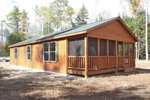 tiny cabins with attached porches