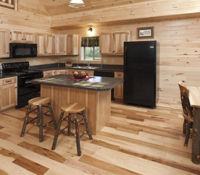 Custom Log Cabin Kitchen