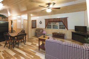 hickory natural log cabin flooring