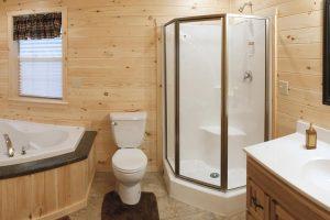 Custom Cabin Master Bathroom