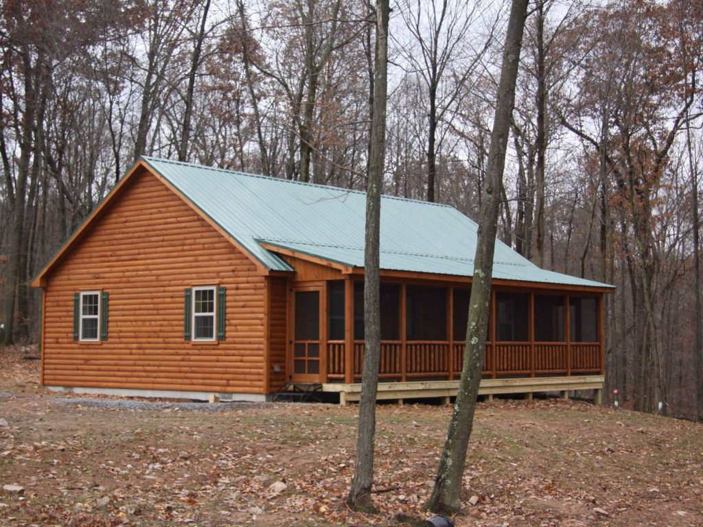 Musketeer log cabins manufactured in pa cozy cabins for Prefab screen porch