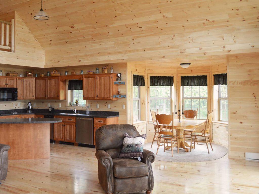 Bointerior cozy cabins llc for Decorate log cabin interior