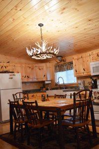 musketeer log cabin kitchen interior