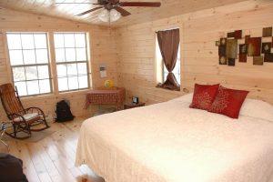 Master Bedroom in Log Home