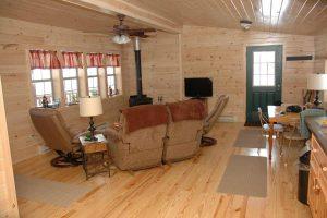 Log Cabin Interior Living Space
