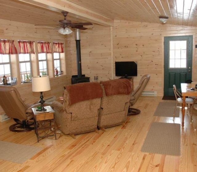 Log Cabin Interior Living Space