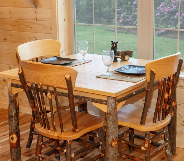 Custom Dining Table for Log Cabin