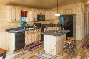 Residential Kitchen in Log Home