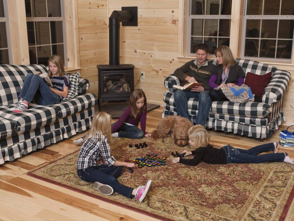 interior photos of log cabins and homes by cozy cabins llc check out the options page for inspiration to customize your own log cabin - Log Cabin Design Ideas