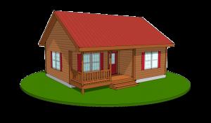 frontier log modular cabin rendering