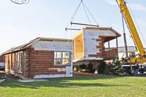 modular log cabin installation process