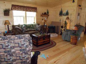 manufactured settler log cabin