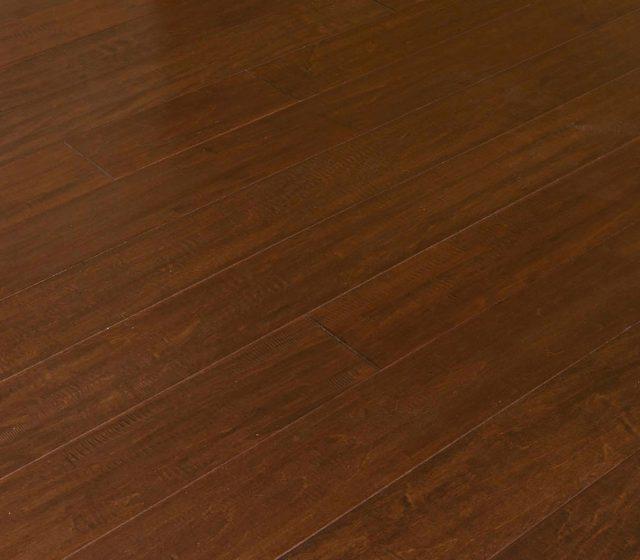 Maple flooring in log cabin