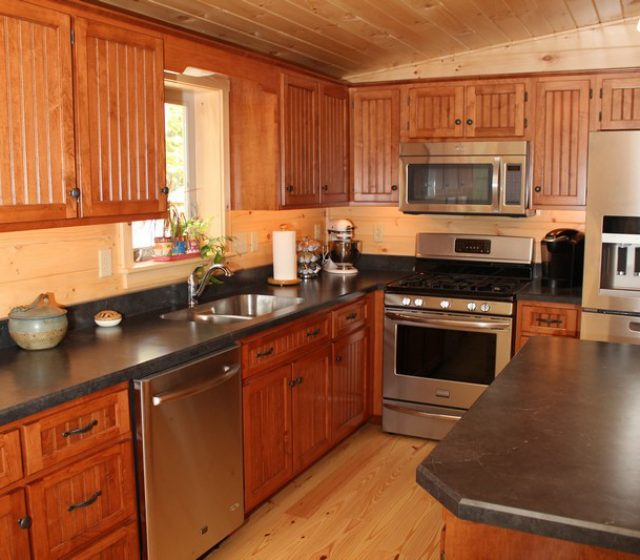 Modular Log Cabin Kitchen Design