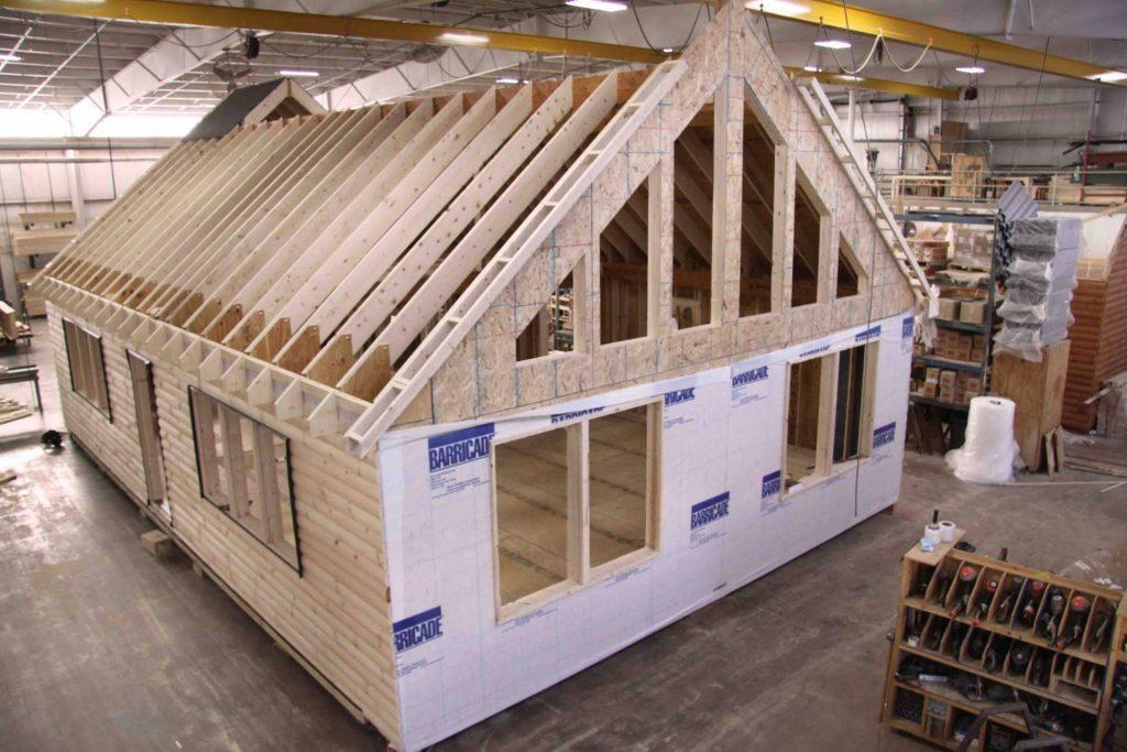 log cabin construction