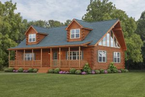 cape cod style log home in pa