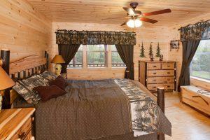 custom built log cabin in Michigan