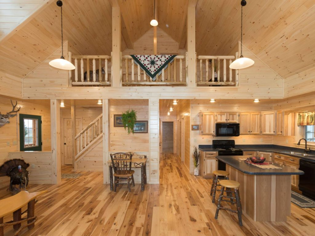 Log cabin interior ideas home floor plans designed in pa for Log cabin house