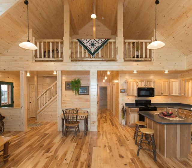 Mountaineer Log Home Living Space