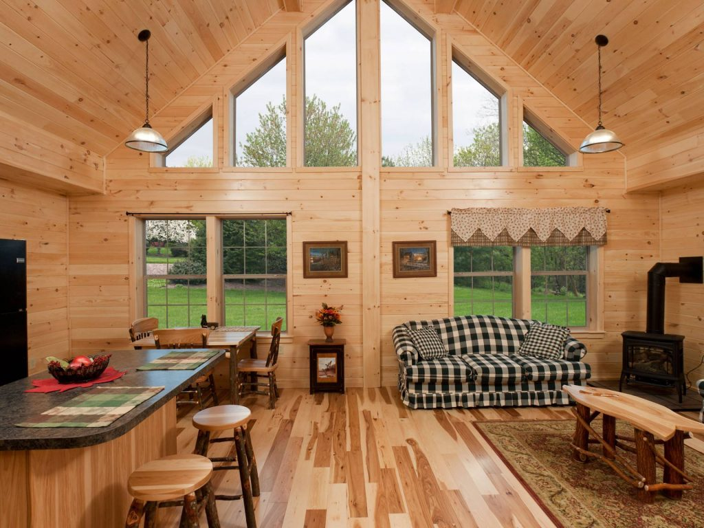 Log cabin interior ideas home floor plans designed in pa for Small cabins and cottages