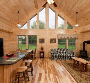 Mountaineer Log Home Kitchen