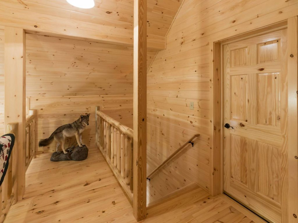 Second Story Of Log Cabin Wood Interior