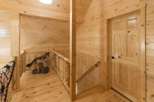 second story of modular log home