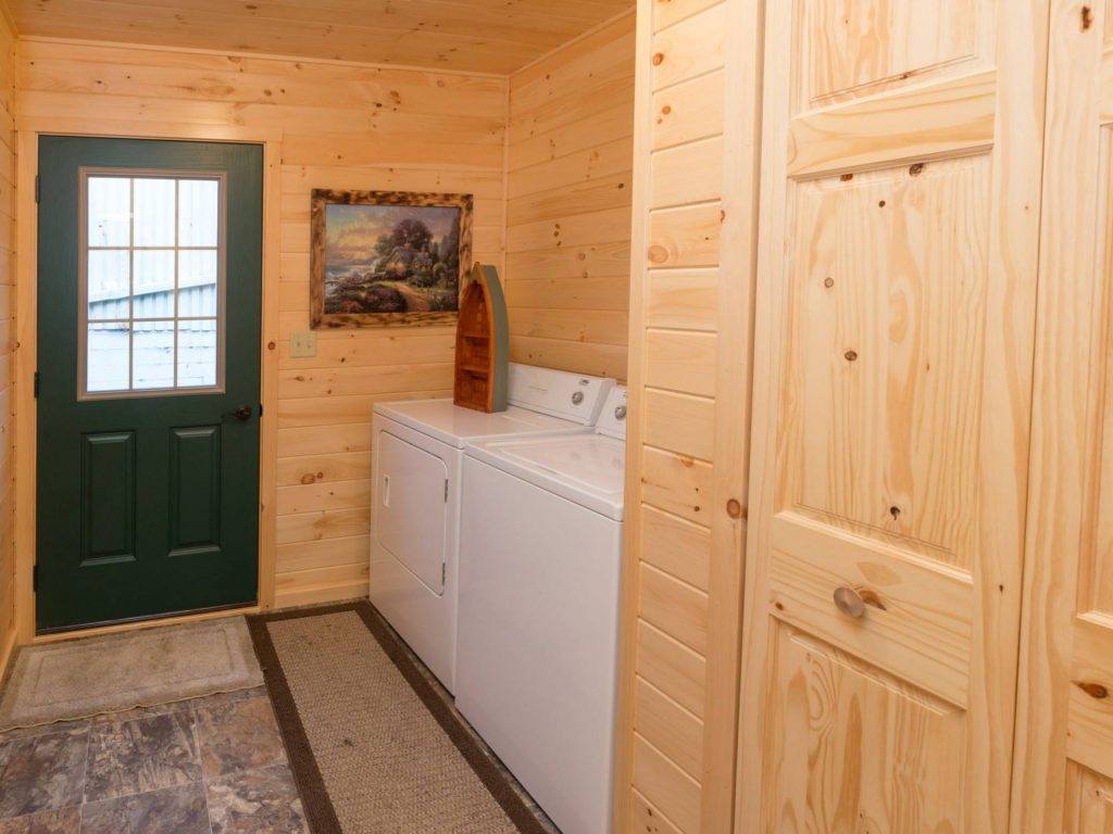 Laundry Room For Log Home