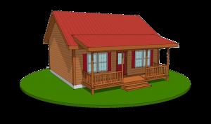 musketeer modular log home design rendering