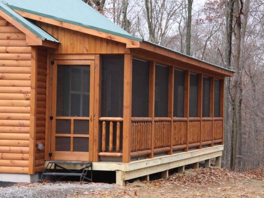 Musketeer screened porch cozy cabins llc for Modular screen porch