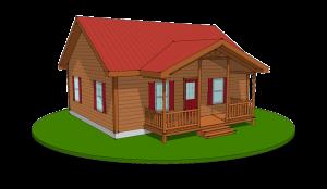 pioneer log modular home rendering