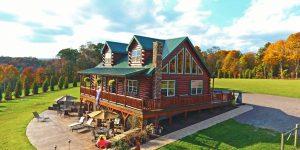 residential log cabin builders in pa