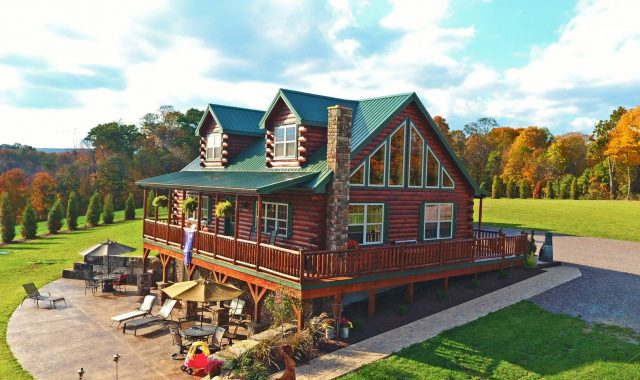 Affordable log cabins modular homes for sale from pa Modular home in pa