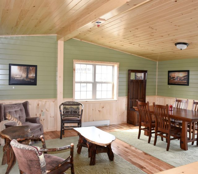 Painted Log Home Interior