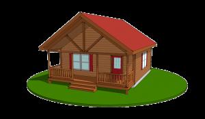 settler log cabin design rendering