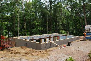 log cabin site preparation