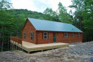 modular log homes with decks