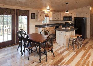Kitchen Designs for Log Cabin