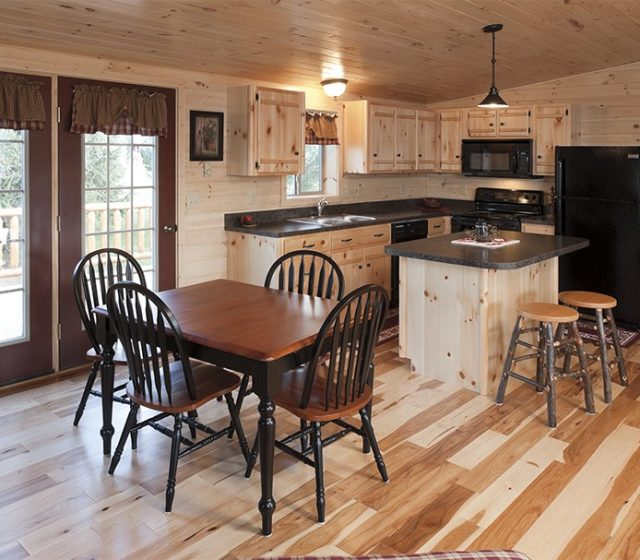 Kitchen Designs for Log Cabin