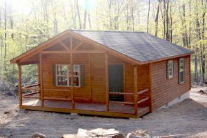 Pennsylvanian Single Story Log Cabin Home