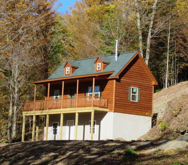 Custom Cape Cod on Basement Log Cabin in Westfield, PA