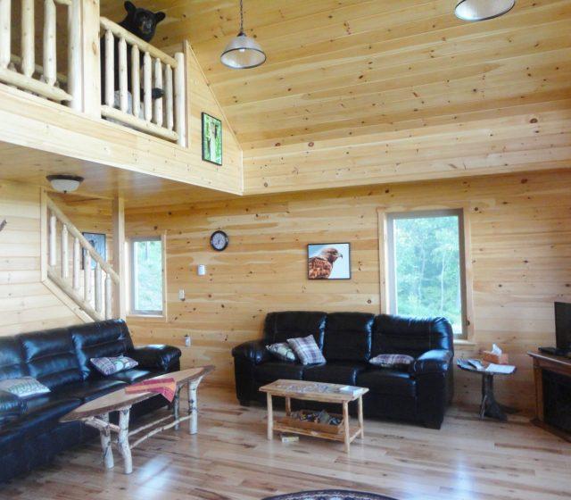 Chalet Log Modular Home Interior