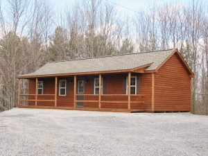 Single Story Log Cabin Home in PA