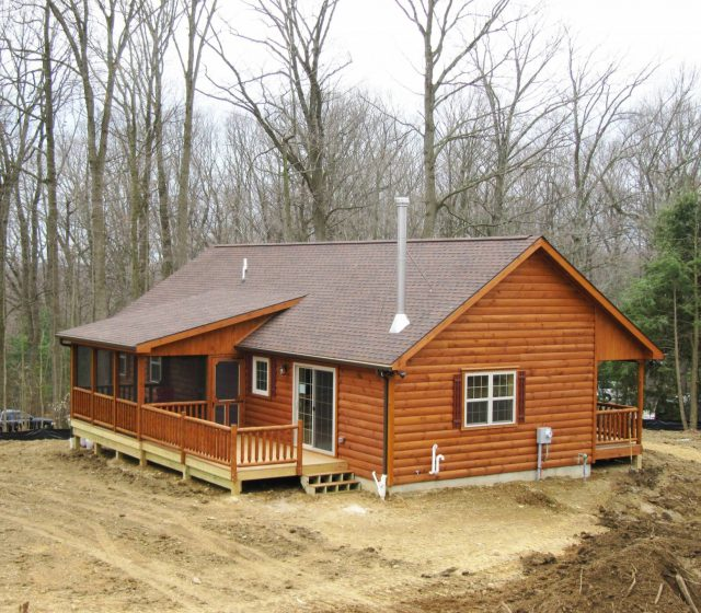 Modular Log Home in West Chester, PA