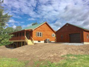 Custom Log Home Built in Rexford, New York