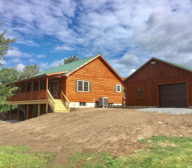Custom Log Home Built in Rexford, New York