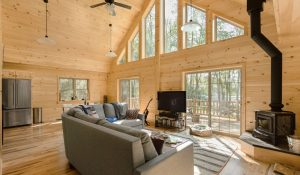 chalet log cabin builders in pa